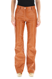 GRAINED FAUX LEATHER TROUSERS