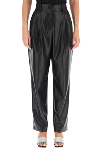 FAUX LEATHER LOOSE TROUSERS