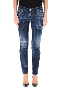 JENNIFER JEANS WITH EMBROIDERED LETTERING