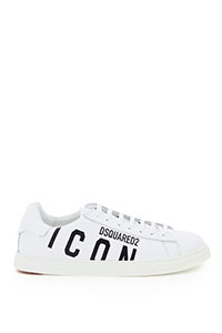 ICON LOGO NEW TENNIS LEATHER SNEAKERS