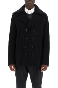 PEACOAT CON COLLO IN LANA