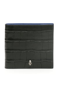 CROC-PRINT WALLET WITH SKULL