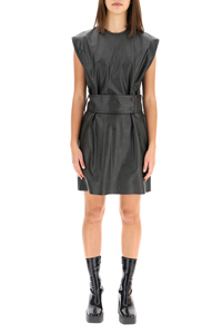 FAUX LEATHER KIMBERLY DRESS