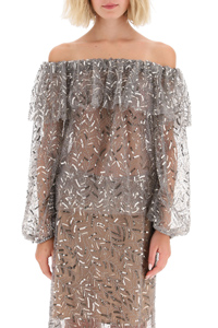 TOP OFF-SHOULDER CON PAILLETTES