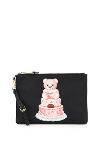POUCH CON STAMPA CAKE TEDDY BEAR