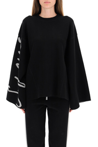 SWEATSHIRT WITH MAXI SLEEVES