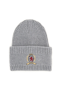 CLASSIC KNIT HAT WITH LOGO EMBROIDERY