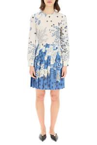 ORIENTAL TOILE DE JOUY PRINT SHORT DRESS