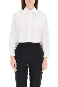 CAMICIA CROPPED IN POPELINE