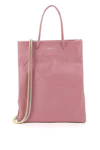 MEDEA BUSTED TALL LEATHER TOTE