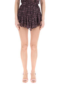 PATTERNED VOILE SHORTS