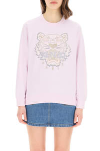 SWEATSHIRT WITH TIGER EMBROIDERY