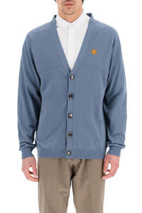 OVERSIZED CARDIGAN WITH TIGER CREST PATCH