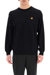 OVER SWEATER WITH TIGER CREST PATCH