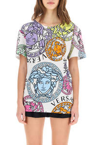 T-SHIRT OVER CON STAMPA MEDUSA AMPLIFIED