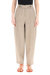 WOOL GRISAILLE TROUSERS