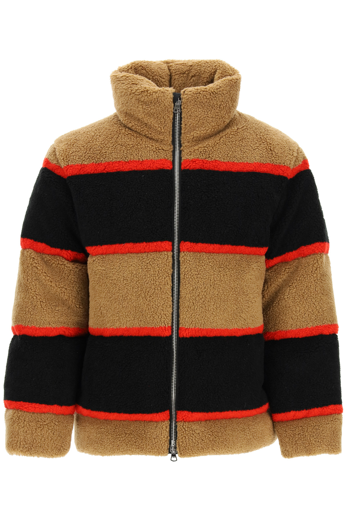 COLOR BLOCK FLEECE DOWN JACKET