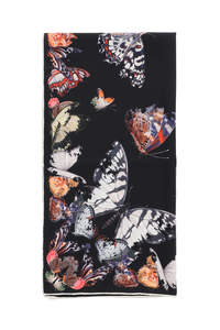 BUTTERFLY DECAY SILK SCARF