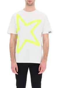 T-SHIRT ADAMO CON STAMPA STAR FLUO