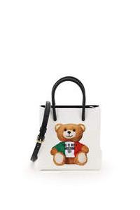 MINI TOTE BAG WITH ITALIAN TEDDY BEAR PRINT