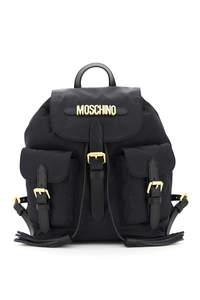 FABRIC BACKPACK WITH MOSCHINO LETTERING