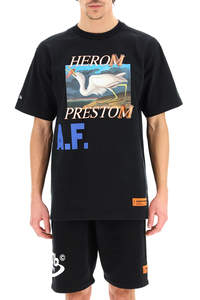 T-SHIRT OVER STAMPA HERON A.F.