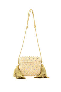 BASKET BAG BX-00030 CRYSTAL NATURAL CAROL