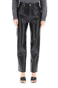 RECYCLED LEATHER TROUSERS