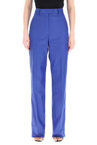 LOOSE TROUSERS IN COTTON BLEND