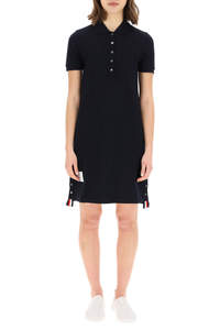 POLO DRESS WITH TRICOLOR STRIPES